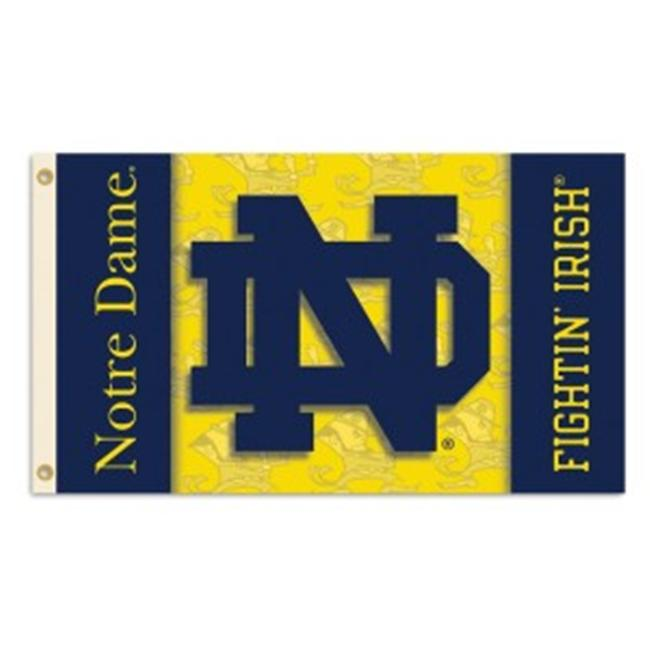 Bsi Products 92036 2-Sided 3 Ft.  X 5 Ft.  Flag W/Grommets - Notre Dame