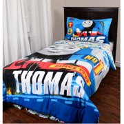 "Thomas and Friends 4 Piece Twin Size Bedding Set - 86"" x 72"""