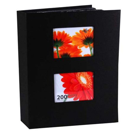 Enigma 4 In. by 6 In. Photo Album for 200 Photos, Black