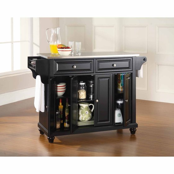 Crosley Kitchen Island: Crosley Furniture Cambridge Stainless Steel Top Kitchen
