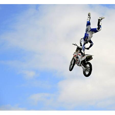 LAMINATED POSTER Dirt Bike Stunt Motorcycle Motorbike Poster Print 24 x 36
