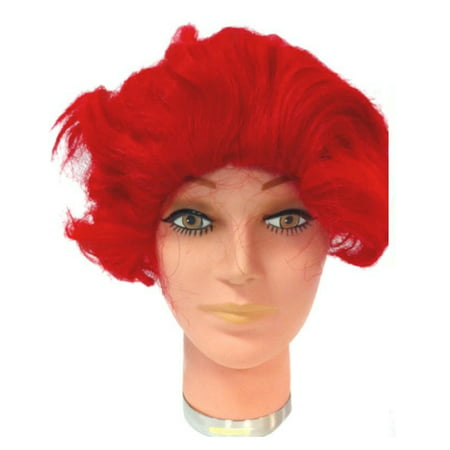 Ronald McDonald Wig  Red Clown McDonald's Wavy Costume Mens Halloween Adult (Mcdonald's Japan Halloween)