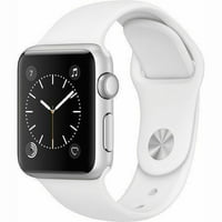 Refurbished Apple Watch Series 2 42mm Silver Case - White Sport Band