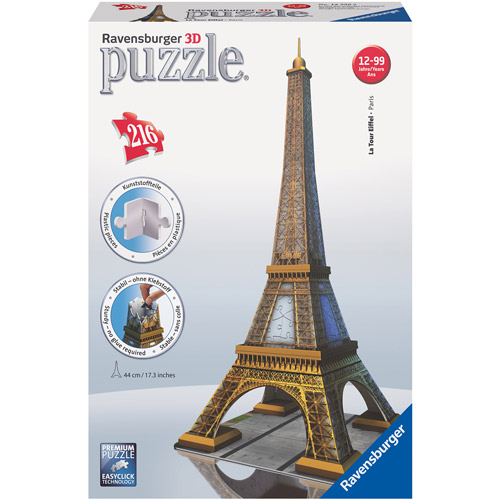 Ravensburger Eiffel Tower 3D Building Puzzle, 216 Pieces