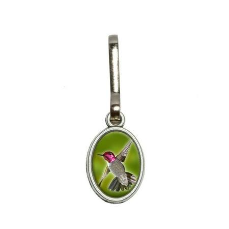 Hummingbird Bird Oval Zipper Pull (Fleur De Lis Zipper Pull)