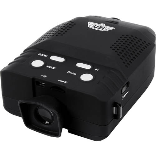 Digital Night Vision Monocular with 3X Magnification, 2X Digital Zoom and Video and Image Record and Playback, UZI