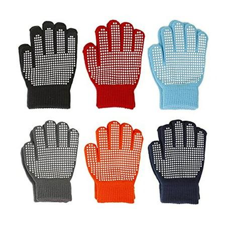- Gilbin Magic-Stretch Gripper Glove, Kids Size, Colorful Set, 6 Pair (Boys)