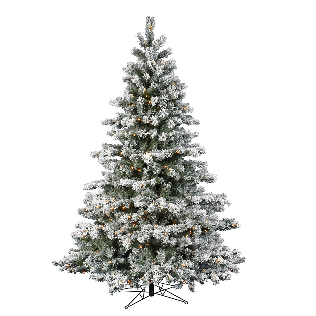 Flocked Aspen Pre-lit LED Christmas Tree - Walmart.com