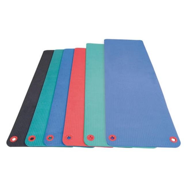 AGM Group 74604 48 inch Elite Workout Mat with Eyelets - Green