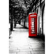 TAF DECOR London Calling - Red Telephone Box Photographic Print on Canvas