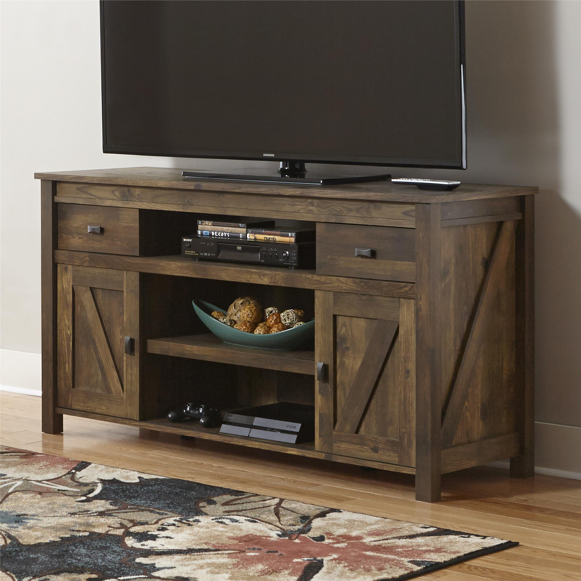 "Better Homes and Gardens Falls Creek 60"" TV Stand, Weathered Dark Pine by Ameriwood Industries"