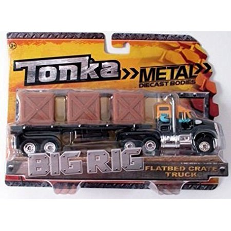Kenworth Big Rig - Metal Diecast Bodies, Big Rig. Flatbed Crate Truck. 1:55th Scale., Flatbed Crate truck By Tonka