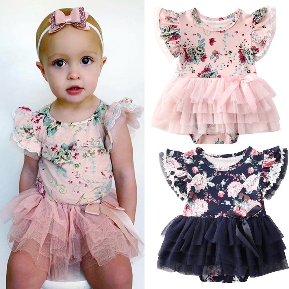 Toddler Baby Girls Romper Jumpsuit Summer Lace Bodysuit Sunsuit Outfits Costumes
