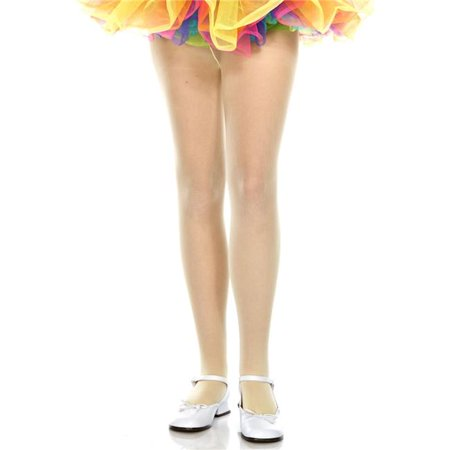 Music Legs 280-YELLOW-L Girls Opaque Tights, Yellow - Large - Halloween 280