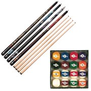 Viper Billiard Master Pool Ball Set, Underground Fatal Shot Cue, Rock & Roll Cue, Celtic Blood Cue, and Raven Cue