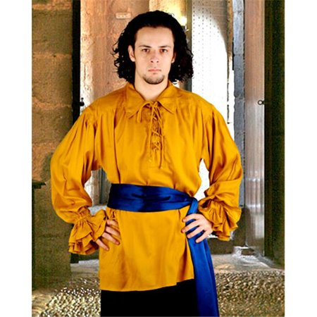 The Pirate Dressing C1007 John Cook Renaissance Shirt, Gold - Large](Renaissance Tops)