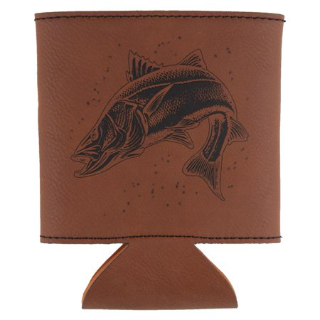 Snook Sergeant Fish Robalo Etched Leatherette Can Cooler (Etched Fish)