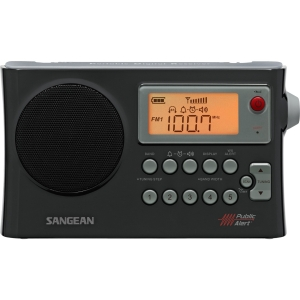 AM/FM/WEATHER ALERT PORTABLE RADIO WITH AM AUTO TRACKING