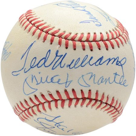 500 Home Run Club Autographed Vintage Baseball with 11 Signatures - BAS A68272 Graded 9 - Fanatics Authentic