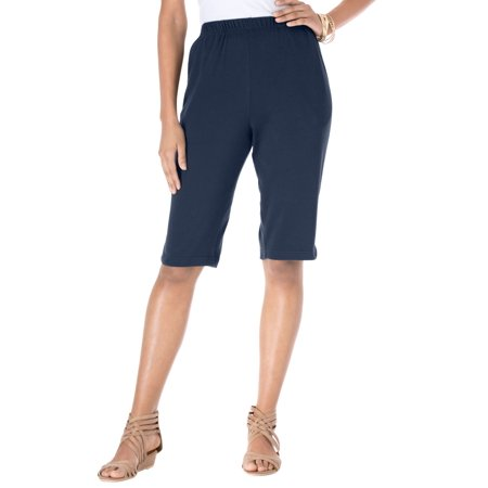 Roaman's Plus Size Soft Knit Bermuda Shorts