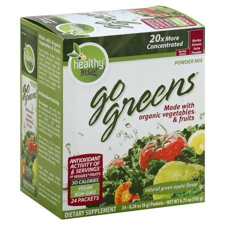 To Go Brands Go Greens Packets, 24 Ct