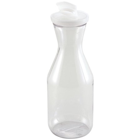 Winco Polycarbonate Decanter with Lid, 1/2-Liter