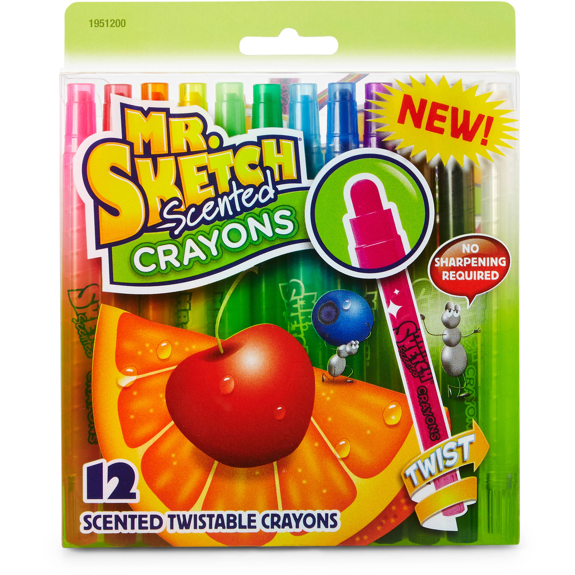 Mr. Sketch Scented Twistable Crayons, Assorted, 12pk