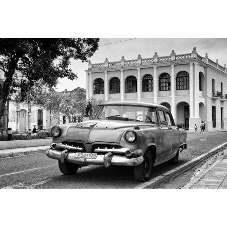 Cuba Fuerte Collection B&W - Cuban Classic Car II Print Wall Art By Philippe