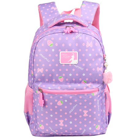 Vbiger Girls School Backpack Adorable Student Shoulders Bag Fashionable Printing  School Bag Casual Outdoor Daypack for Primary Students ac0ea33f356d0