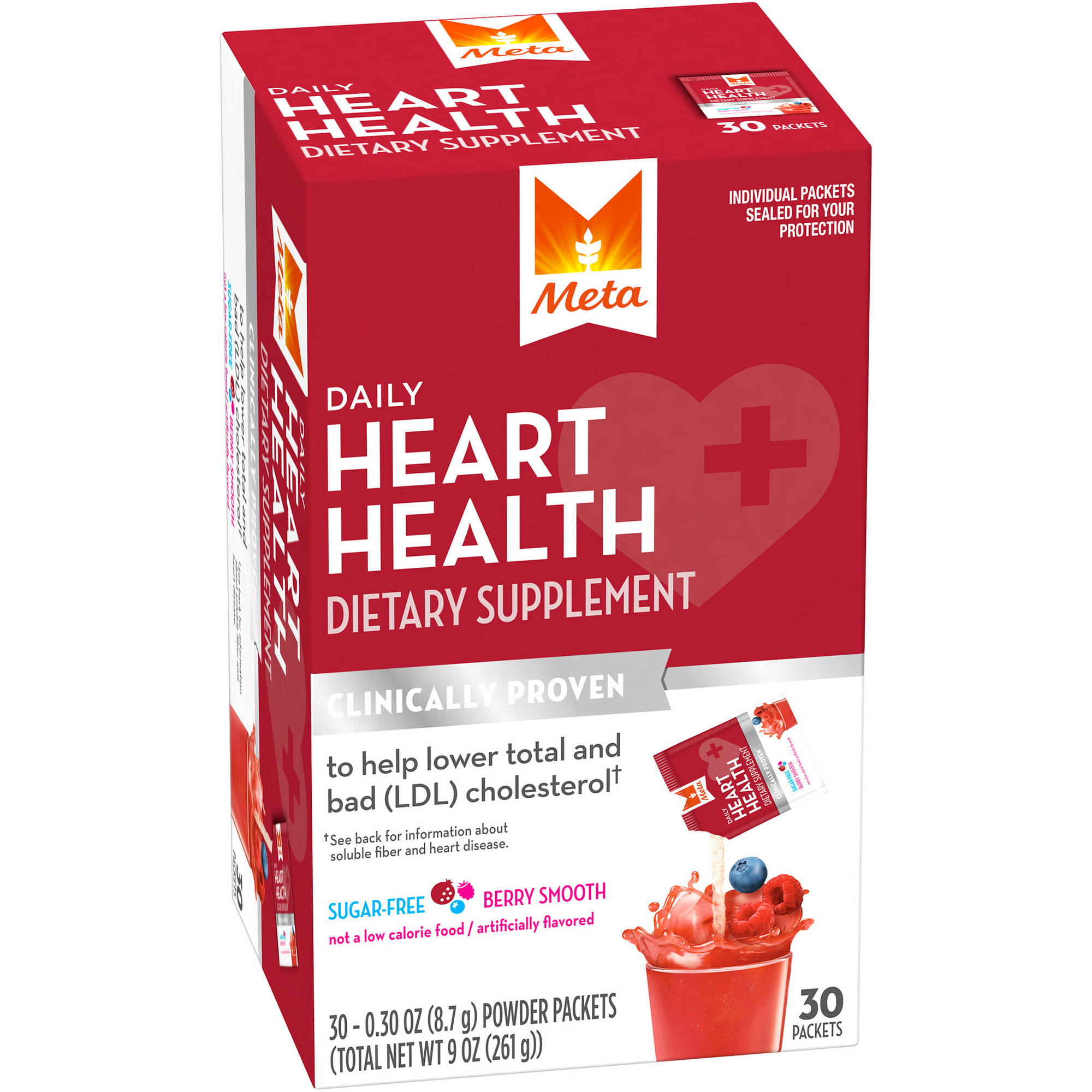 Meta Daily Berry Smooth Heart Health Dietary Supplement, 30 count