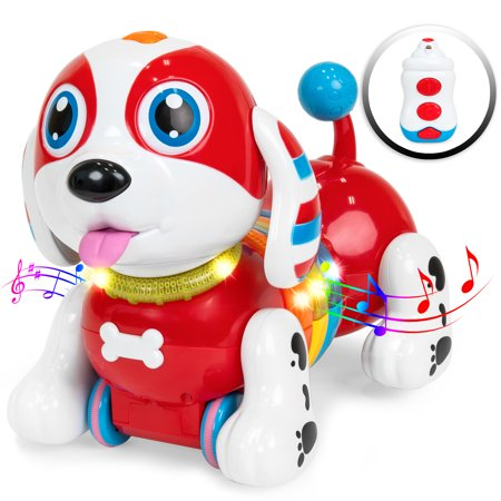 - Best Choice Products Kids Interactive Singing and Dancing Remote Control Robotic Toy Dog w/ Music, Touch Response, Catchphrases, Light-Up Body - Multicolor