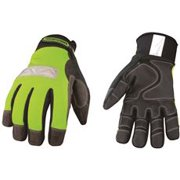 Safety Lime Waterproof Winter Gloves Medium