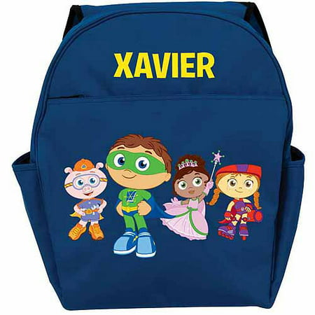 Personalized Super Why! Group Toddlers' Blue Backpack (Super Why Halloween Part 1)