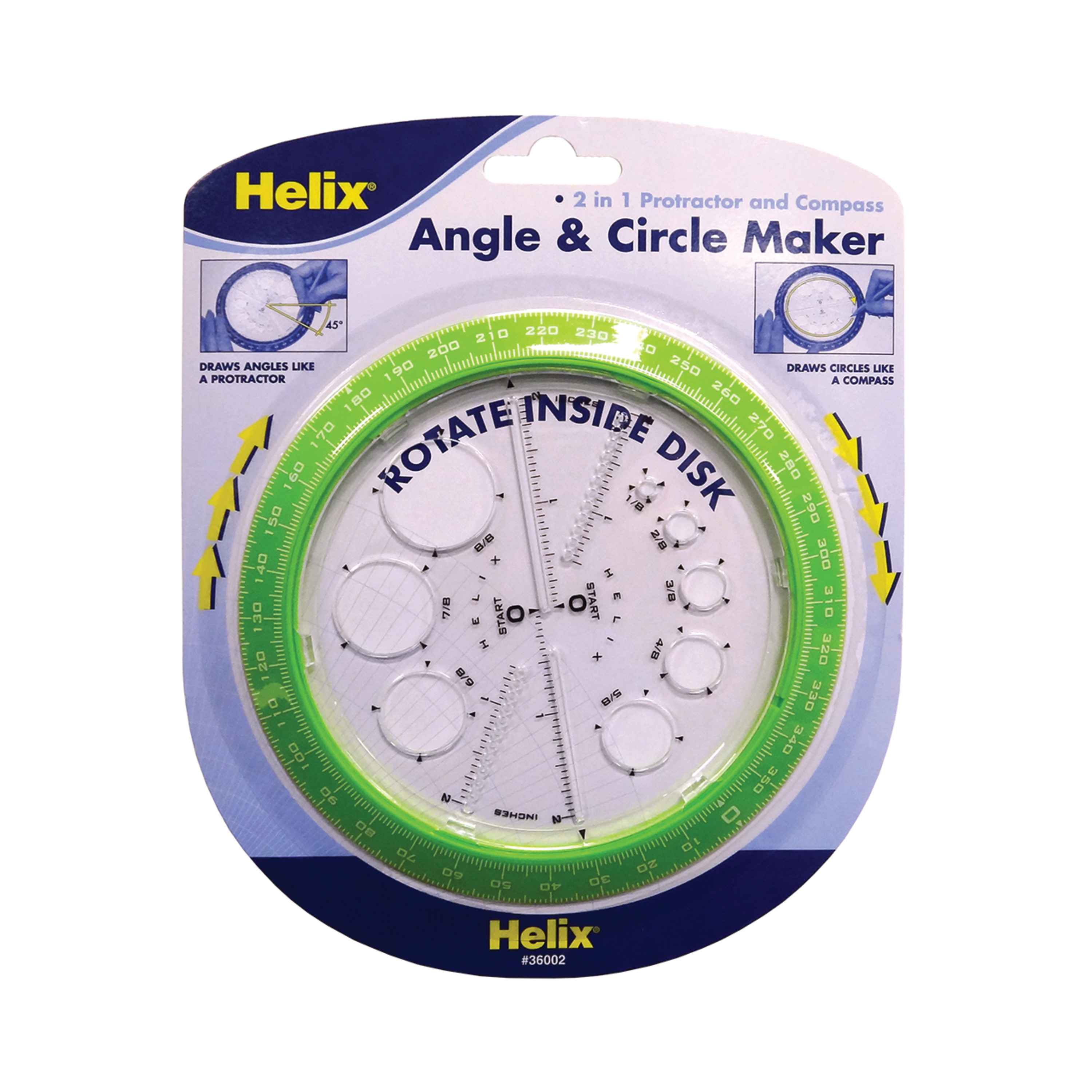 Assorted Colors 360° 6 Inch 36002 Helix Angle and Circle Maker