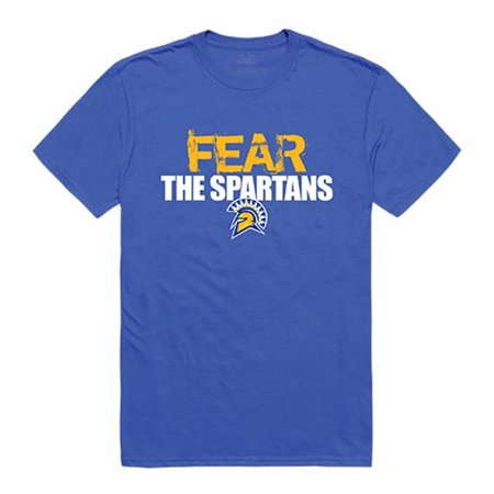 W Republic Apparel 518-173-B02-01 San Jose State University Fear Tee for Men, Royal - Small (No Fear Mens Jerseys)