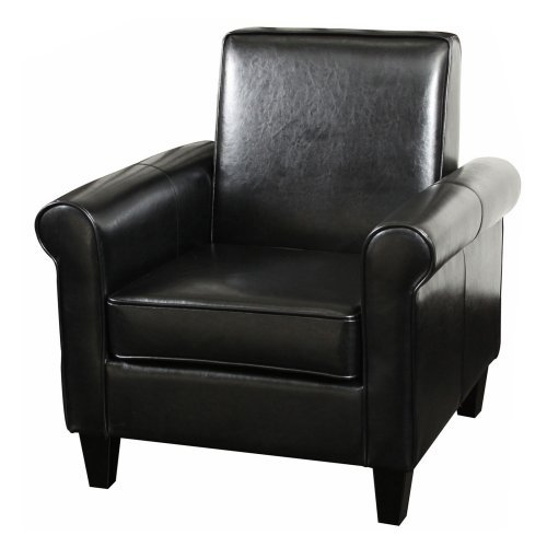 Black Square Back Club Chair