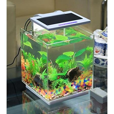 Vepotek aquarium fish tank nano kit 4 gallons w led light for Walmart fish supplies