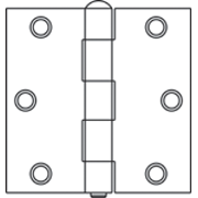"HINGE,2-1/2"" ZINC LOOSE PIN"