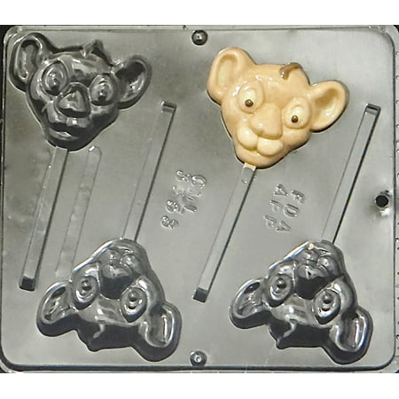 Lion Chocolate Mold (3353 Lion Cub Lollipop Chocolate Candy Mold)