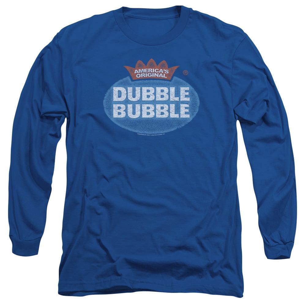 DUBBLE BUBBLE/VINTAGE LOGO-L/S ADULT 18/1-ROYAL BLUE-2X