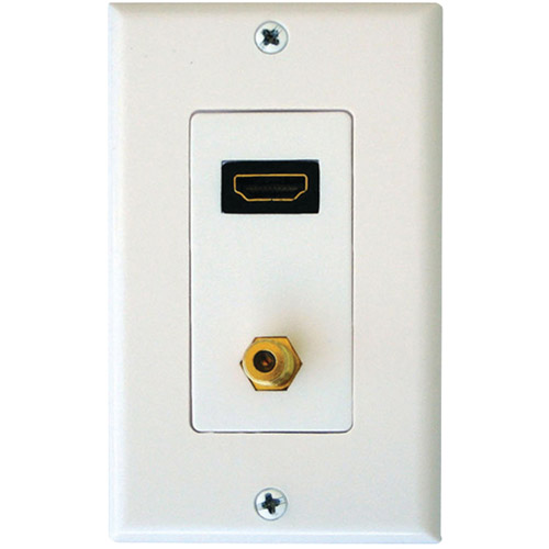 Axis Communications Single HDMI/F Coaxial Connector Wall Plate in White