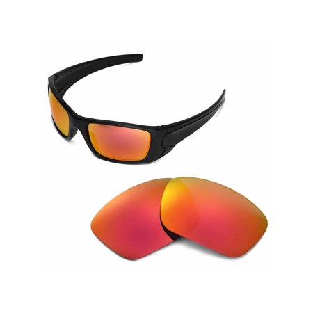 Walleva Fire Red Replacement Lenses for Oakley Fuel Cell (Oakley Fuel Cell Black)