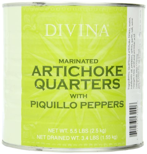 Divina Artichoke Piquilo Pepper, 5.5000-pounds by Divina