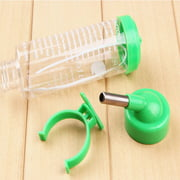 OUTOP Hanging Water Bottle, Dispenser Feeder, No Drip, Leak Proof Water Kettle, 2 Size for Choice, Fit for Hamster, Guinea Pig, Rabbit, Dog Color:Green Specification:80ml
