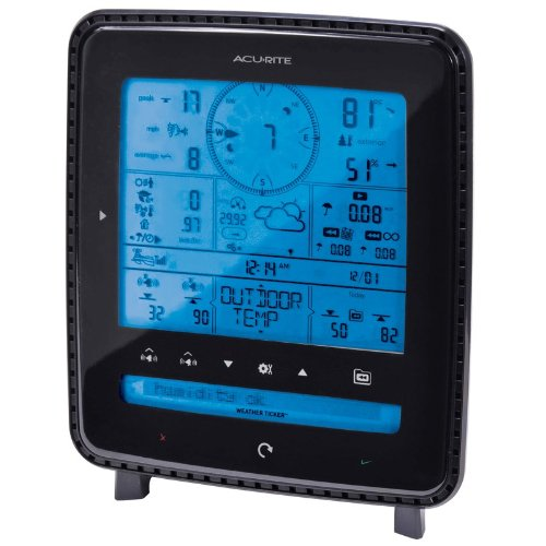 Acurite Pro Digital Weather Station With Weather Ticker & Pc Connect 01525 - 330 Ft - Desktop, Wall Mountable