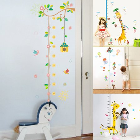 Moderna Growth Chart Cartoon Animals Kids Height Measure Ruler