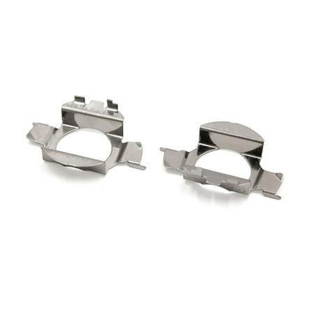 2Pcs Silver Tone Metal LED Xenon Headlight Bulb Holder Adapter Base for New Bora - image 1 of 1