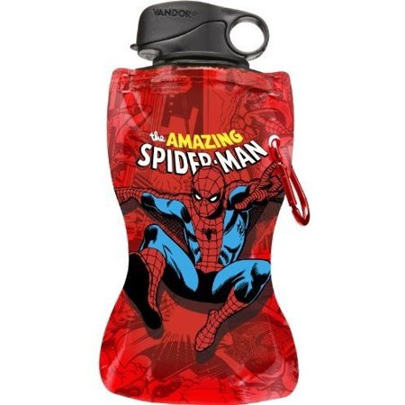 Marvel Amazing Spider-Man Collapsible Water Bottle, 12-Ounce,