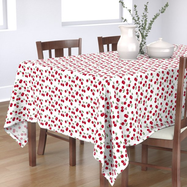 Tablecloth Retro Cherry Kitchen Decor