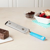 Tasty Handheld Blue Grater with Soft Grip Handle